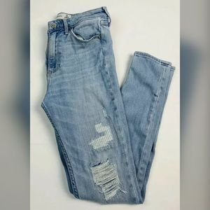 Abercrombie Super Skinny High Rise Jeans Distress